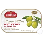 King Oscar Royal Fillet Skinless and Boneless Mackerel in Olive Oil - 4.05 oz.