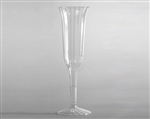 Stem Fluted Clear Champagne Polystyrene - 5 Oz.