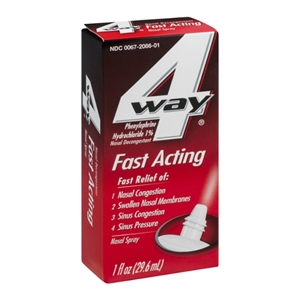 4 Way Fast Acting Nasal Spray - 29.6 ml.