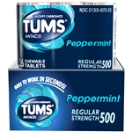 Tums Peppermint Regular Tablets