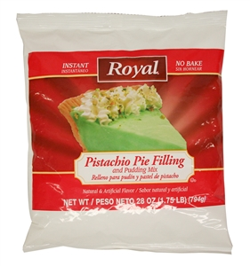 Royal Instant Pistachio Pudding Mix and Pie Filling - 28 Oz.