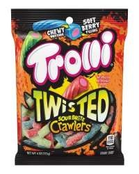 Trolli Twisted Sour Brite Crawlers - 4 Oz.