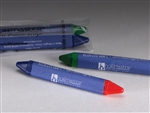 Red-Blue And Yellow-Green Crayon Mini Triangular 2 Double Tip Per Package