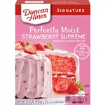 Duncan Hines Signature Strawberry Supreme Cake Mix - 15.25 Oz.