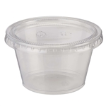 Dixie Plastic Clear Souffle Cups - 4 Oz.