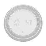 Dixie Clear Souffle Lids - 20 Oz.