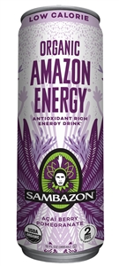 Sambazon Lo-Cal Amazon Acai Berry Pomegranate Organic Energy Drink - 12 fl. Oz.