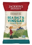 Jacksons Honest Non-Gmo Cooked in Organic Coconut Oil Salt and Vinegar Potato Chip