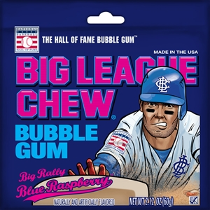 Big League Chew Blue Raspberry Bubble Gum