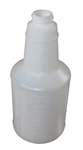 Plastic Bottle with Graduations Natural - 24 Oz.