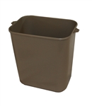 Soft-Sided Plastic Wastebasket Beige - 14 Qt.