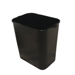 Soft-Sided Plastic Wastebasket Black - 14 Qt.