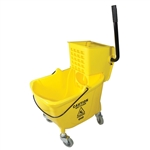 Value-Plus Sidepress Wringer and Plastic Bucket Combo Yellow