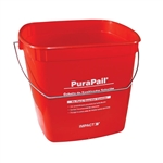 Color Coded Square Utility Pails Red Sanitizing - 6 Qt.