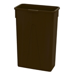 Slim Brown Container - 23 Gal.