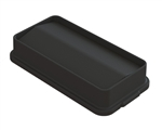 Lid Slim Waste Black Container - 23 Gal.