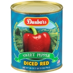 Dunbar Diced Red Sweet Peppers - 28 Oz.