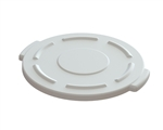 Value Plus 10 Gallon Trash Can White Lid
