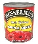 Musselmans 85-95 Count Red Spiced Apple Rings - 110 Oz.