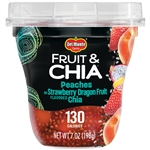 Fruit and Chia Peaches In Strawberry Dragonfruit Flavored Chia - 7 oz.