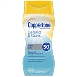 Coppertone Defend and Care Clear Zinc Sunscreen Lotion SPF 50 - 6 Fl.oz.