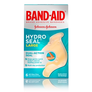 Bandaid Hydro Seal Large 6 Count.