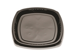 Forum Natural Cut Black Shallow Tray - 14 in.