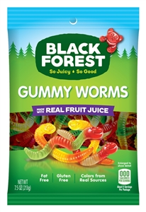 Black Forest Gummy Worms - 7.5 oz.