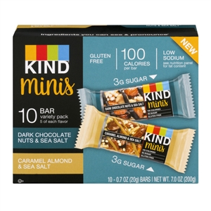 Caramel Nut Almond Mini Dark Chocolate - 7 Oz.