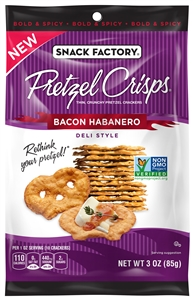 Pretzel Crisps Bacon Habanero - 3 Oz.