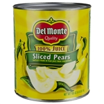 Delmonte Sliced Pears In Juice - 105 oz.