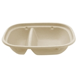 Compostable Unbleached Plant 2 Compartment Fiber Box