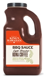 Kings Hawaiian Food Service Jug of BBQ Sauce Kona Coffee - 80 Oz.