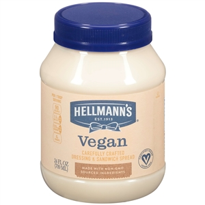 Hellmanns Mayonnaise Vegan Carefully Crafted - 24 Fl. Oz.