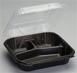 3 Compartment Large Hinged Container