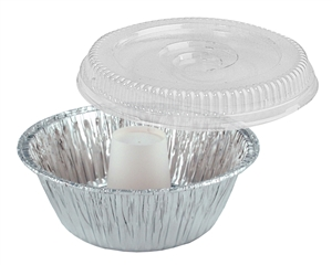 Angel Food Aluminum Precup with Dome - 8 in.