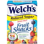 Welchs Fruit Snacks Reduced Sugar Mixed Fruit - 0.8 Oz.