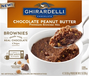 Ghirardelli Chocolate Peanut Butter Brownie Mug Mix - 9.2 oz.