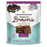 Crunchmaster Protein Brownie Thins Dark Chocolate - 3.54 Oz.