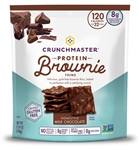 Crunchmaster Protein Brownie Thins Milk Chocolate - 3.54 Oz.