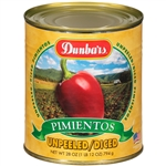 Diced Unpeeled Pimientos - 28 Oz.