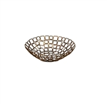 Round Copper Wire Link Basket - 8 in.