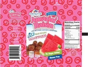 Amazin Raisin Sour Watermelon Infused Raisins - 1.3 oz.