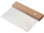 Dough Scraper Wooden Handle Stainless Steel Blade