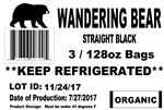 Wandering Bear Straight Black Organic Cold Brew - 3 Gal.