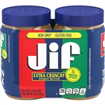 Jif Crunchy Peanut Butter Twin Pack - 40 Oz.