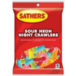 Sathers Pal Sour Neon Nite Crawlers - 5.5 oz.