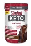 SlimFast Keto Meal Replacement Powder Fudge Brownie Batter Canister - 13.4 Oz.