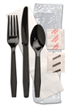 Monarch Ebony Fork, Knife, Teaspoon, Spoon - 13 in. x 17 in.