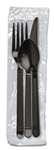 Monarch Ebony Wrapped Fork, Knife, Teaspoon